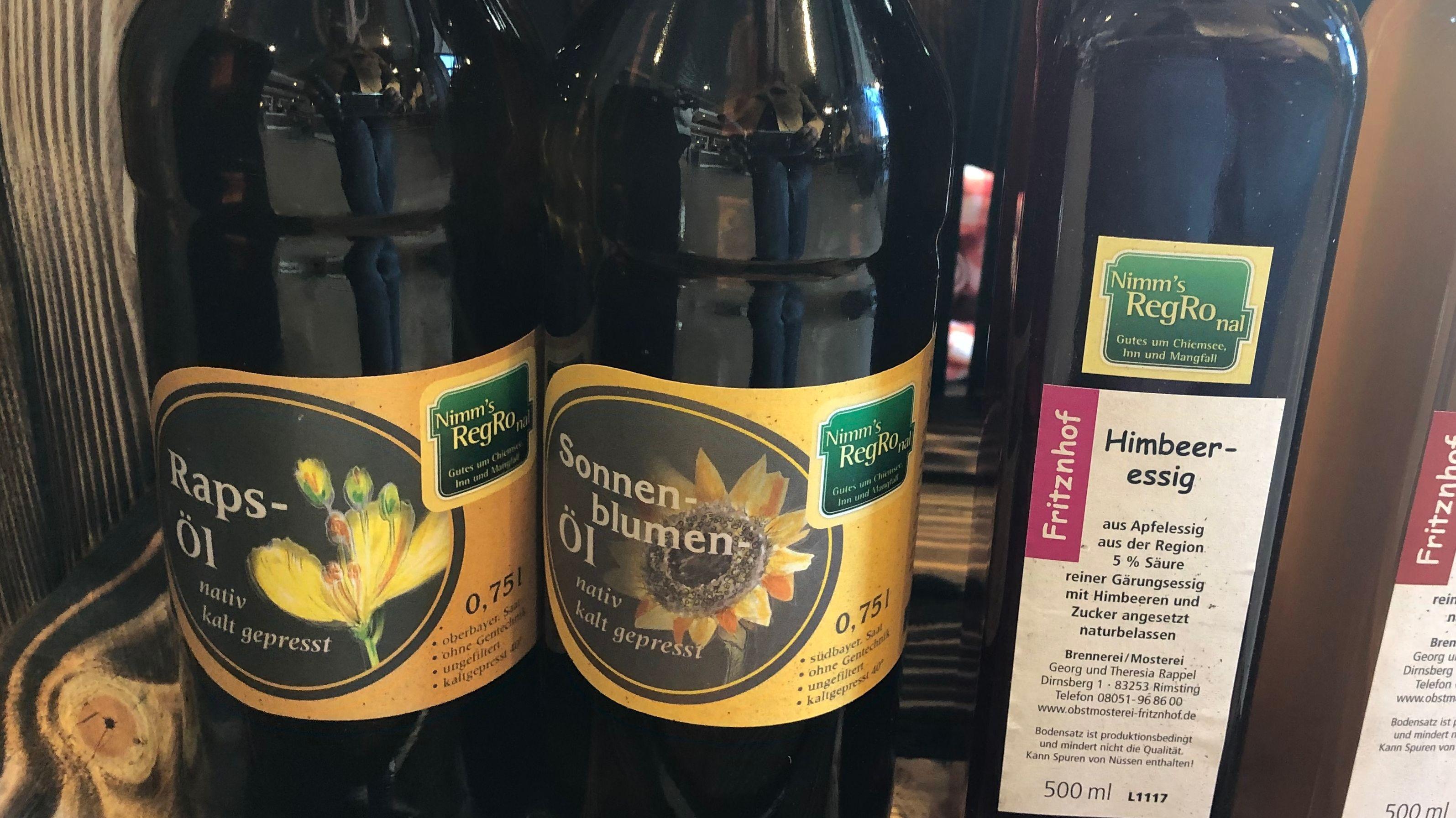 Sonnenblumenöl aus der Region Rosenheim.