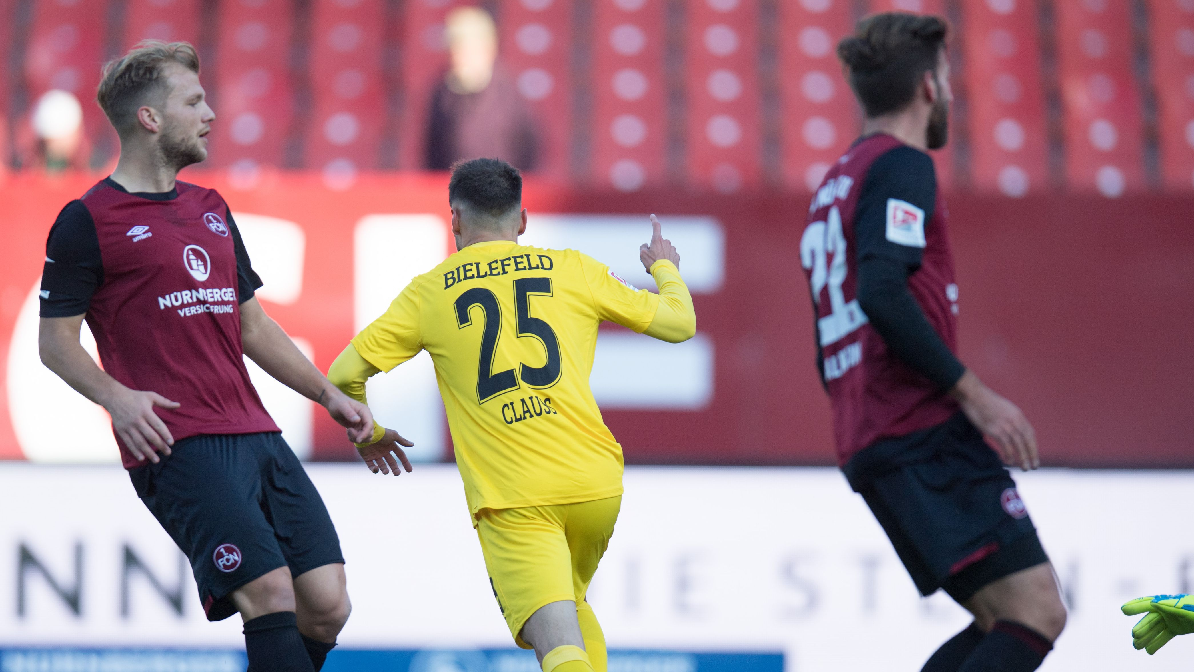 Spielszene 1. FC Nürnberg - Arminia Bielefeld