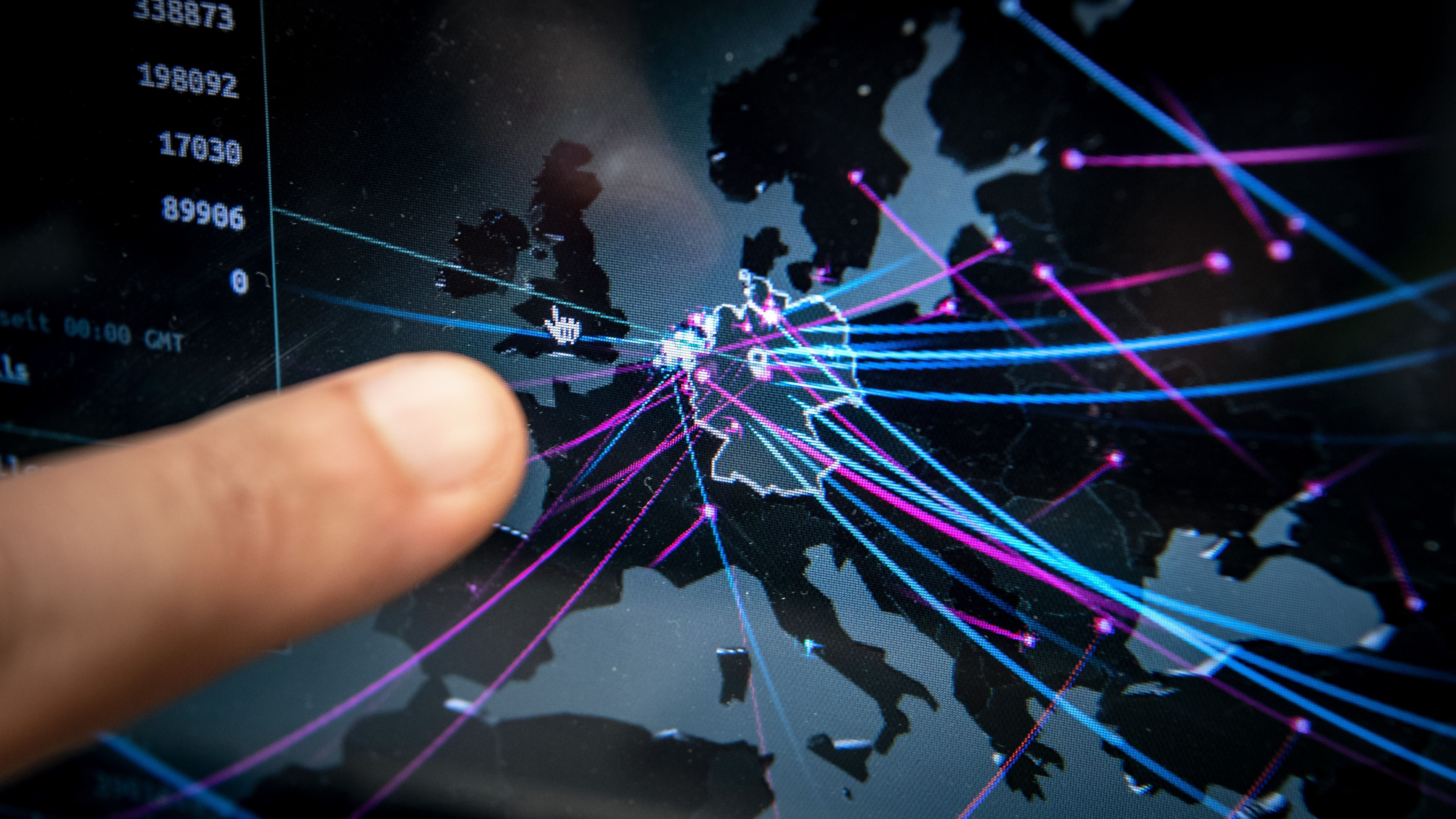 Echtzeitkarte zeigt die Cyberbedrohung in Deutschland