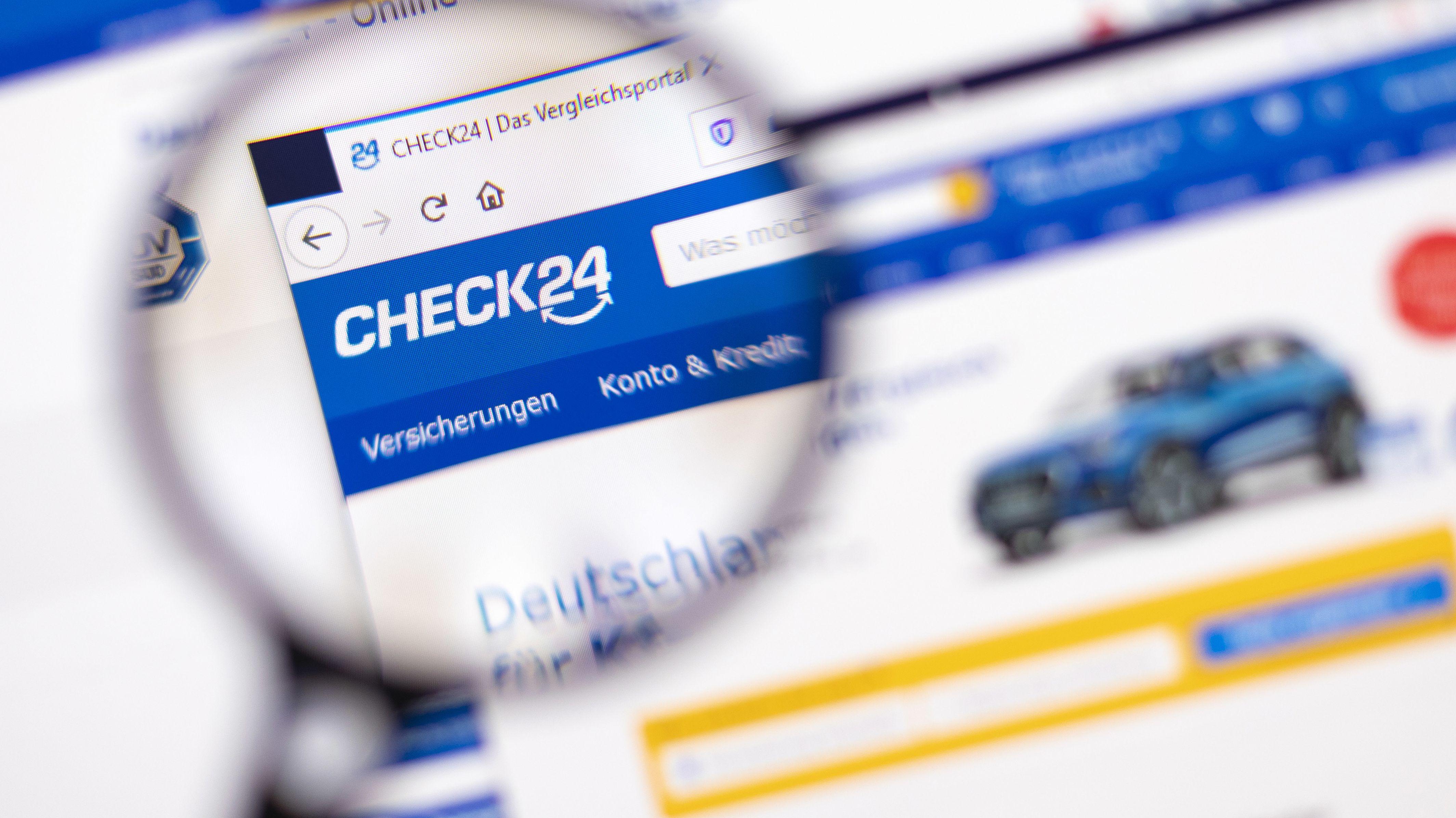 Die Website von Check24