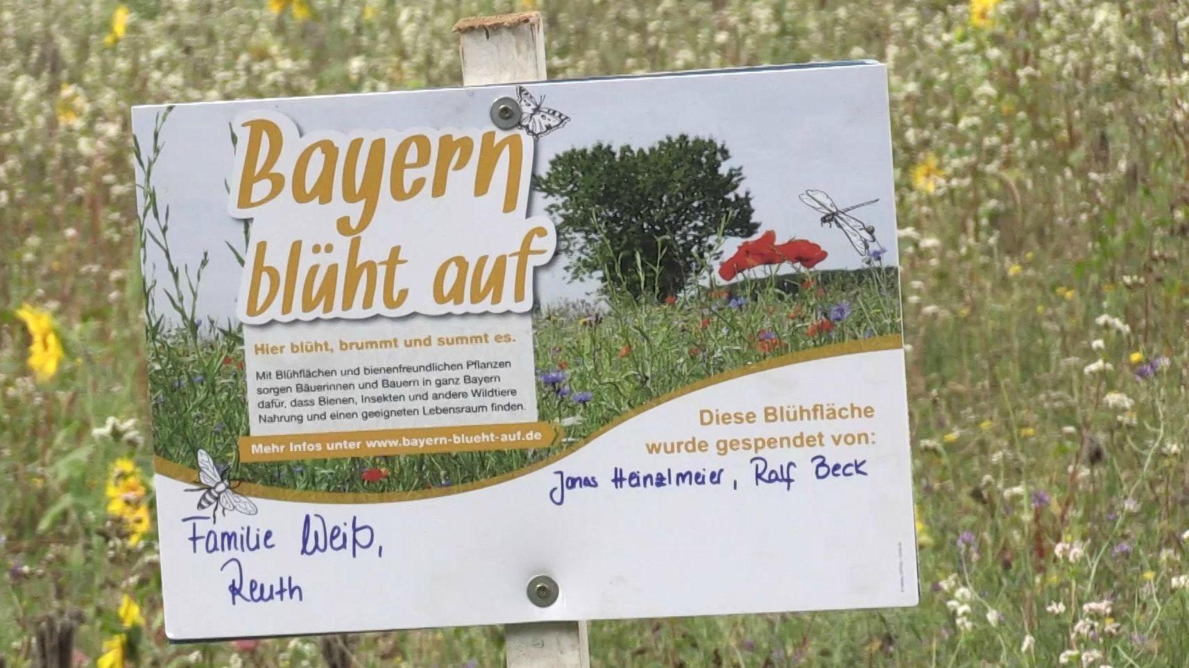 """""""Bayern blüht auf""""-Schild"""