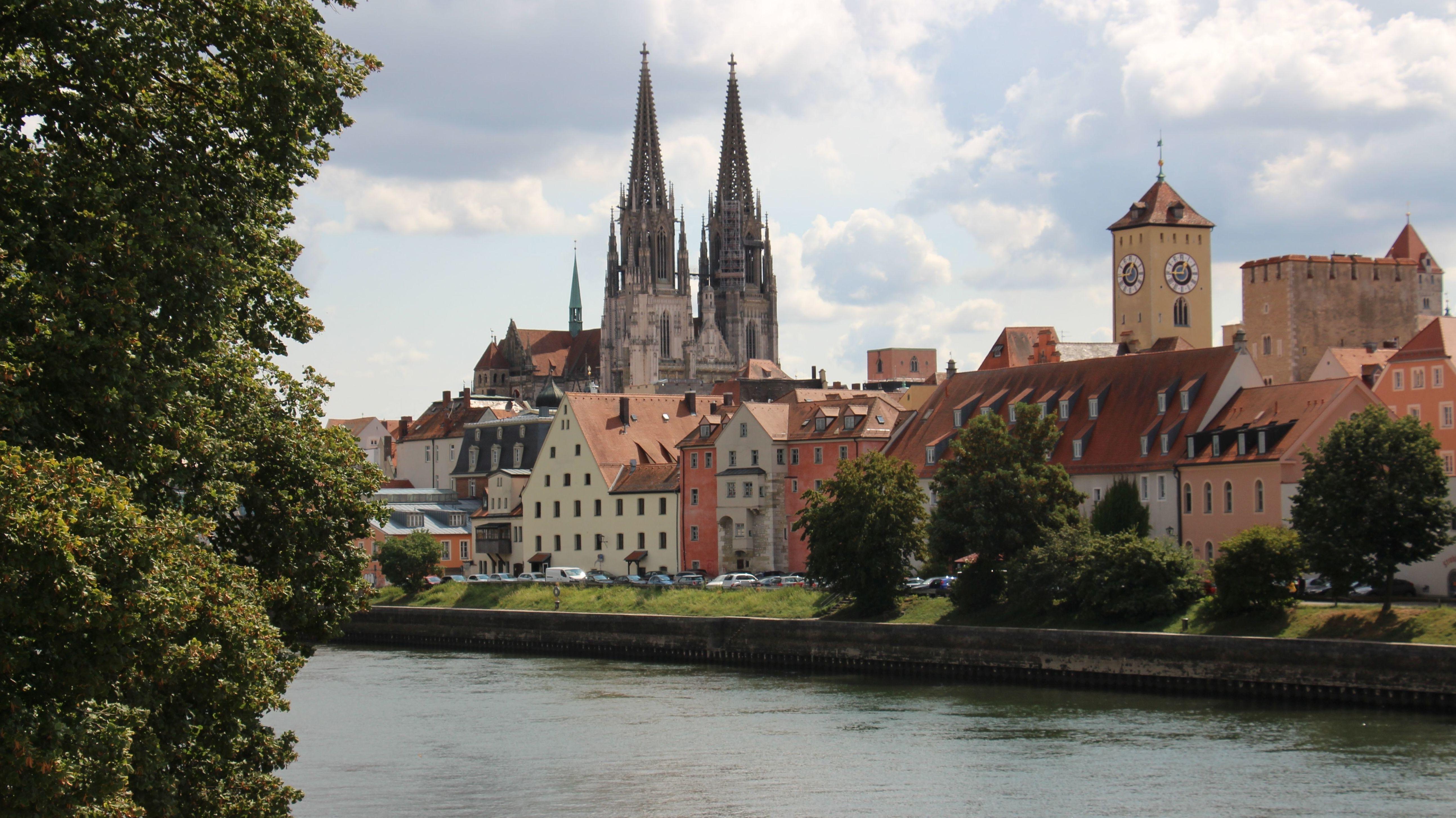 Blick auf die Regensburger Altstadt.