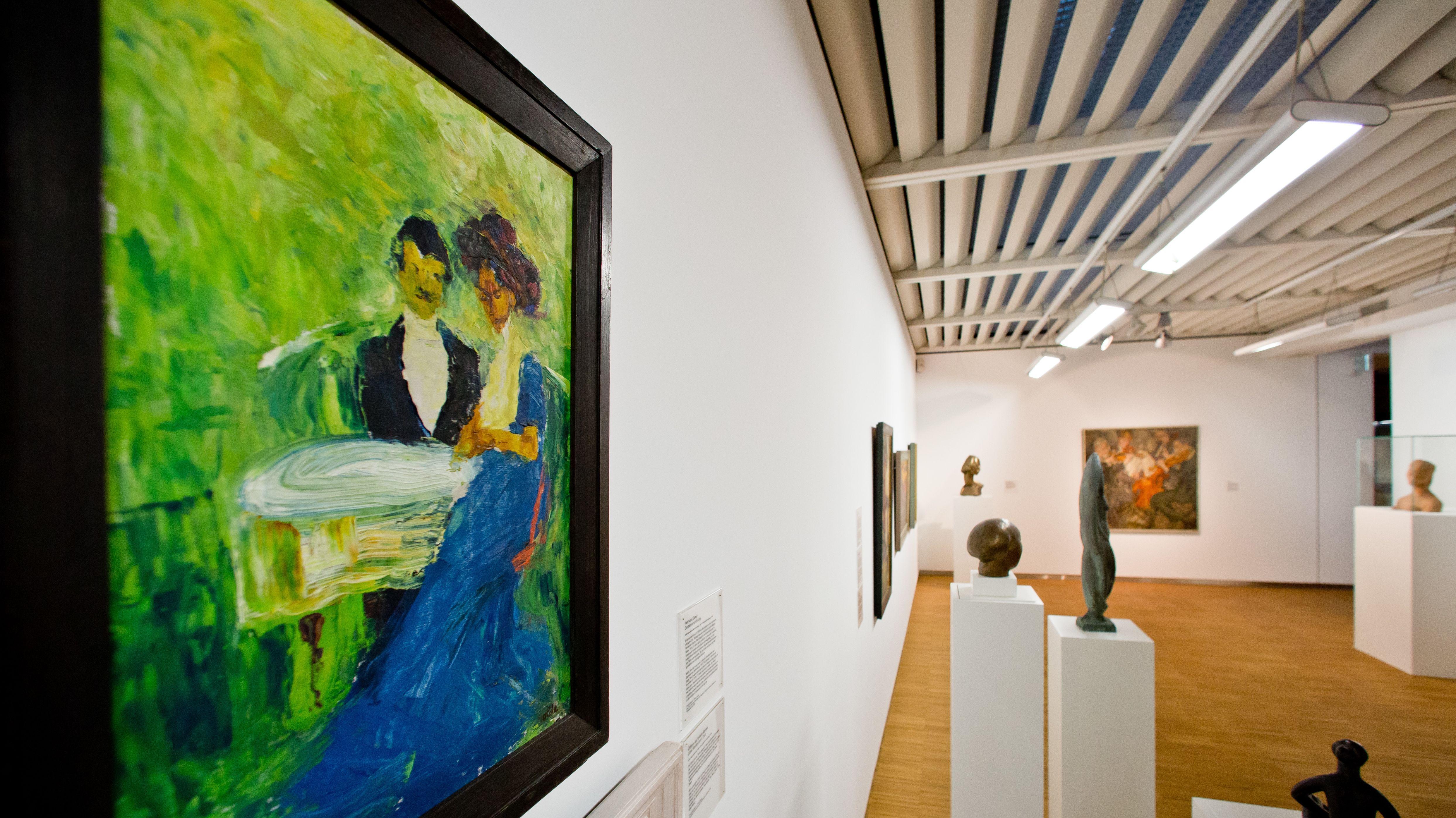 """Das Gemälde """"Herr und Dame"""" von Emil Nolde im Germanischen Nationalmuseum in Nürnberg"""