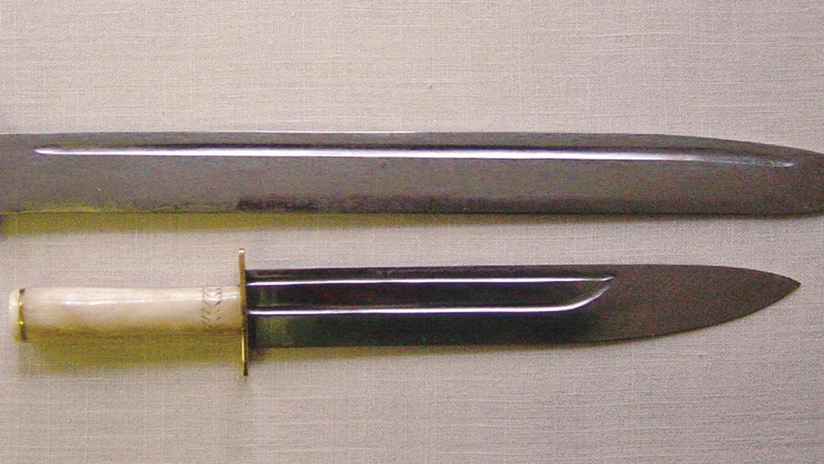 Nachbildungen von Schwertern, die gestohlen wurden