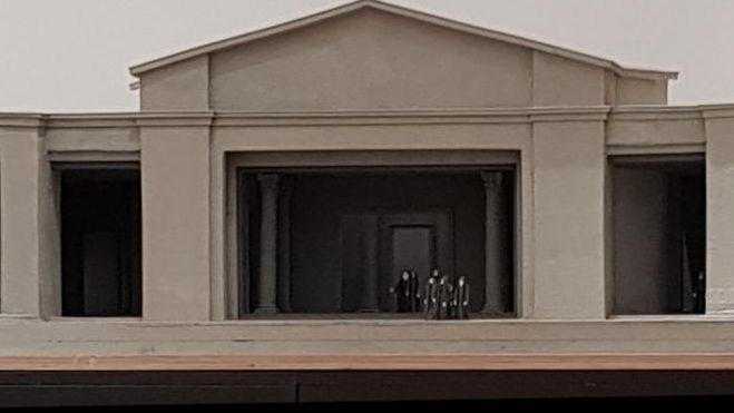 Foto des Entwurfs, wie die Bühne aussehen soll