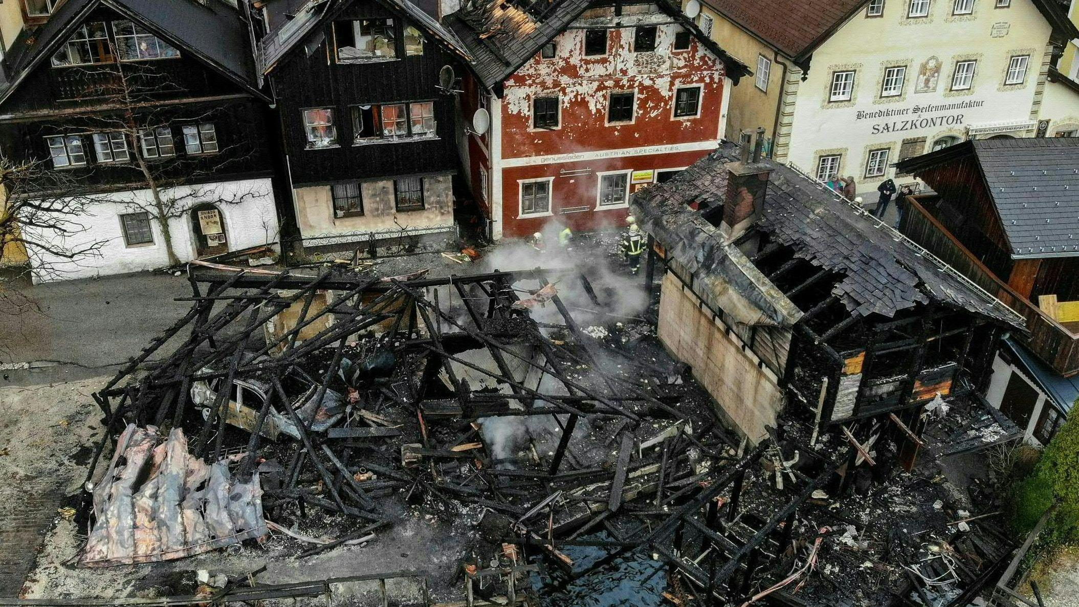 Brandruine in Hallstatt