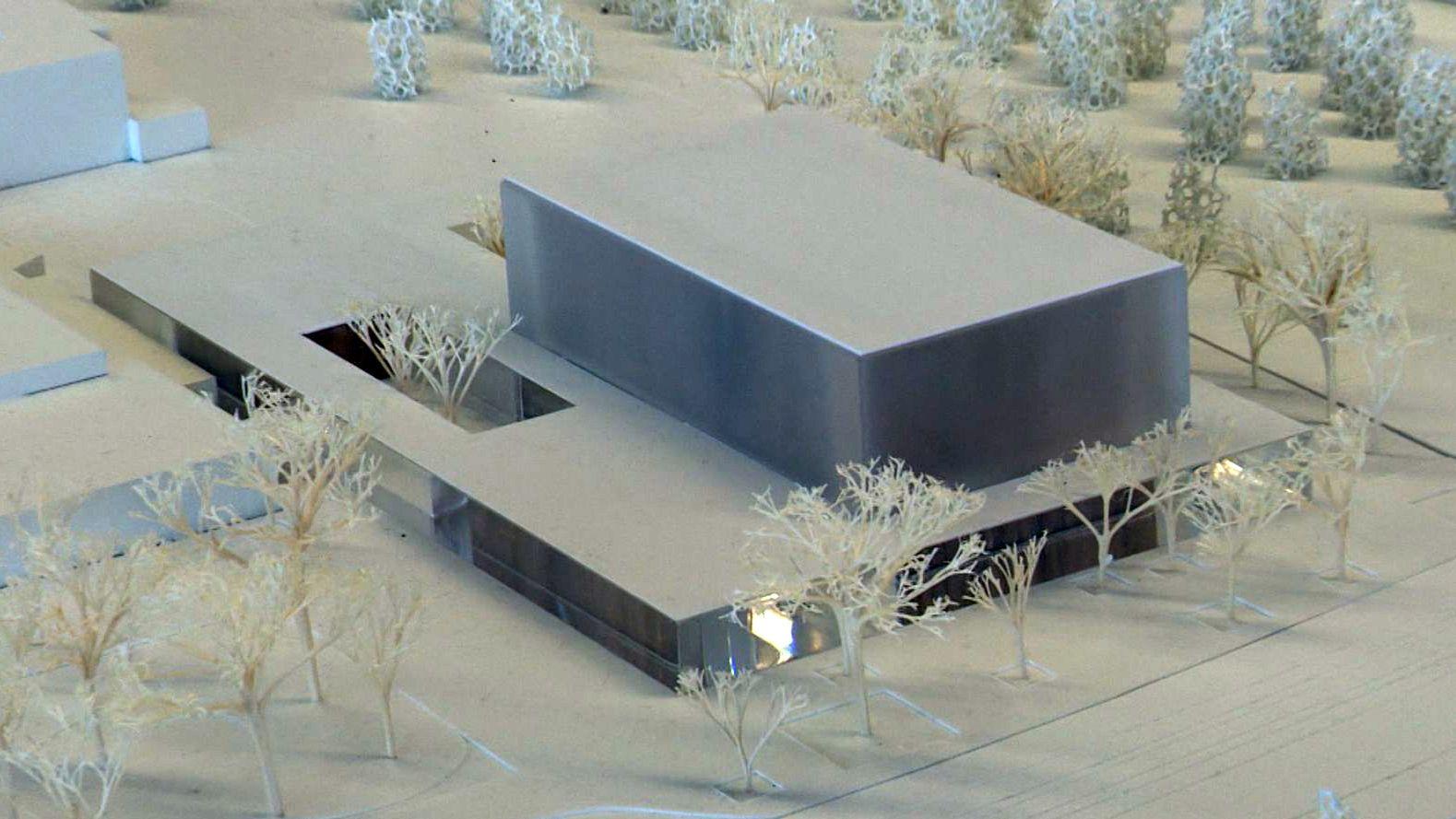 Ein Modell des Konzertsaals in Nürnberg