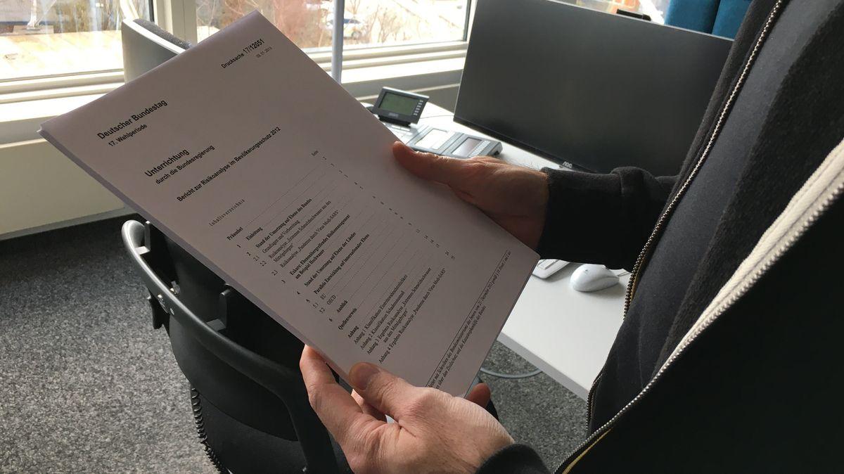 """Im Netz wird derzeit ein Dokument des Deutschen Bundestags verbreitet: Der """"Bericht zur Risikoanalyse zum Bevölkerungsschutz 2012"""""""