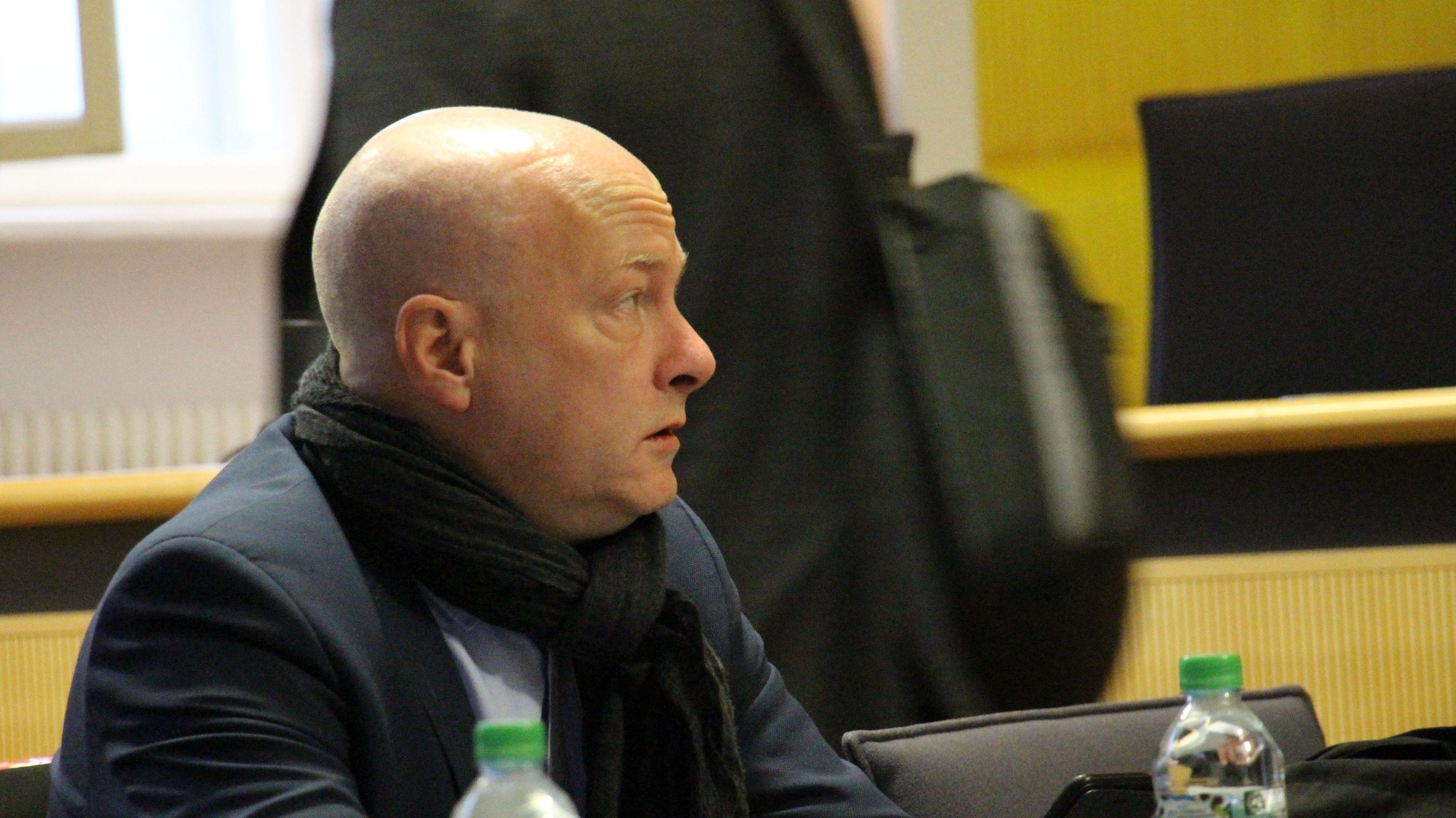 Regensburgs suspendierter OB Joachim Wolbergs im Gerichtssaal.