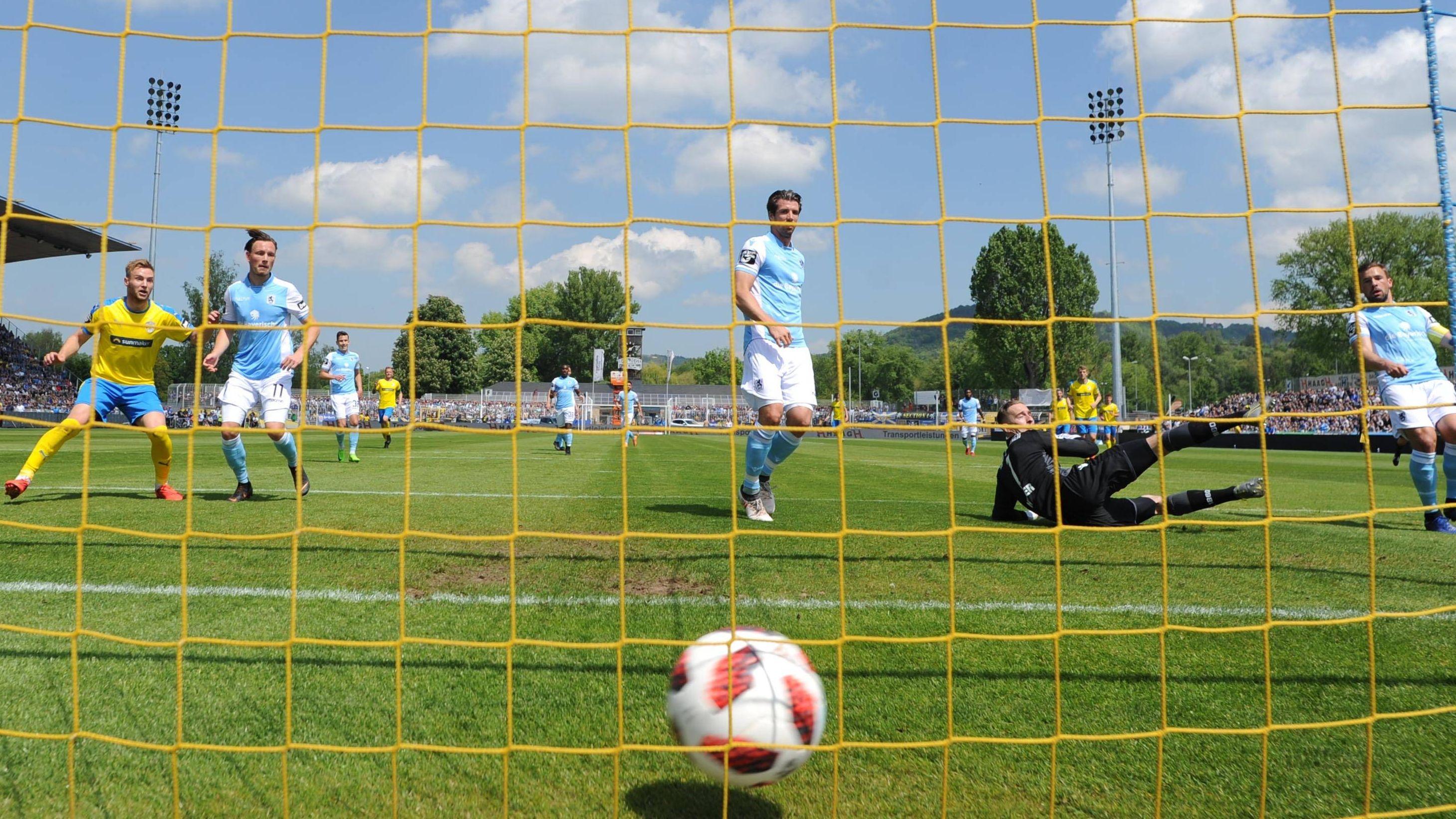 Das 1:0 von Jena gegen den TSV 1860 München