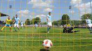 Das 1:0 von Jena gegen den TSV 1860 München   Bild:imago image/Matthias Koch