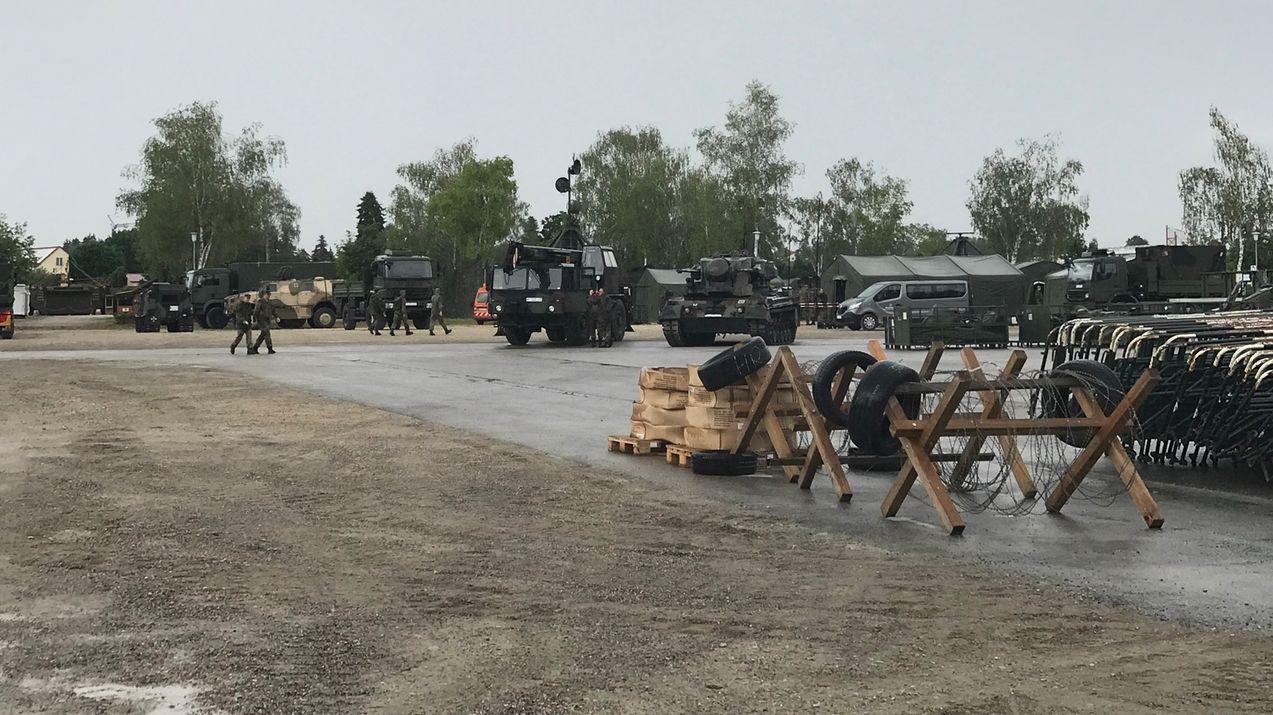 Vorbereitungen auf den Tag der Bundeswehr in Dillingen
