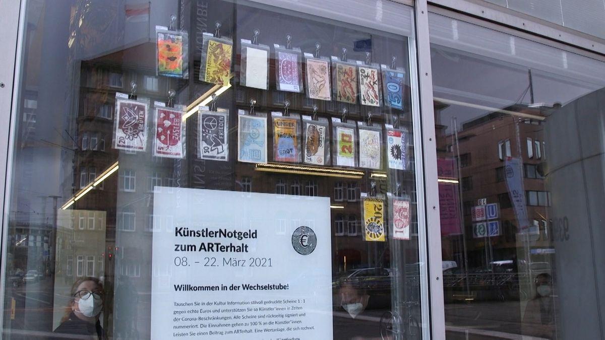 Kunstaktion mit Falschgeld in Nürnberg gestartet