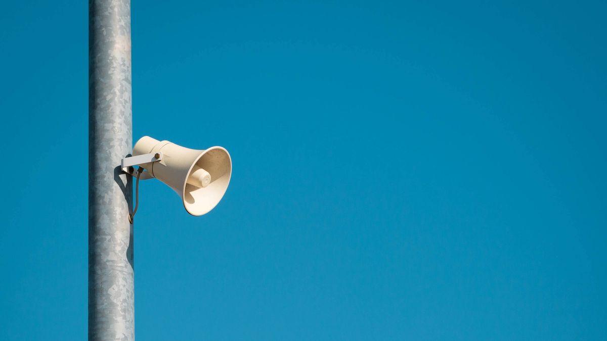 Lautsprecher am Mast/ Symbolbild: Muezzinruf