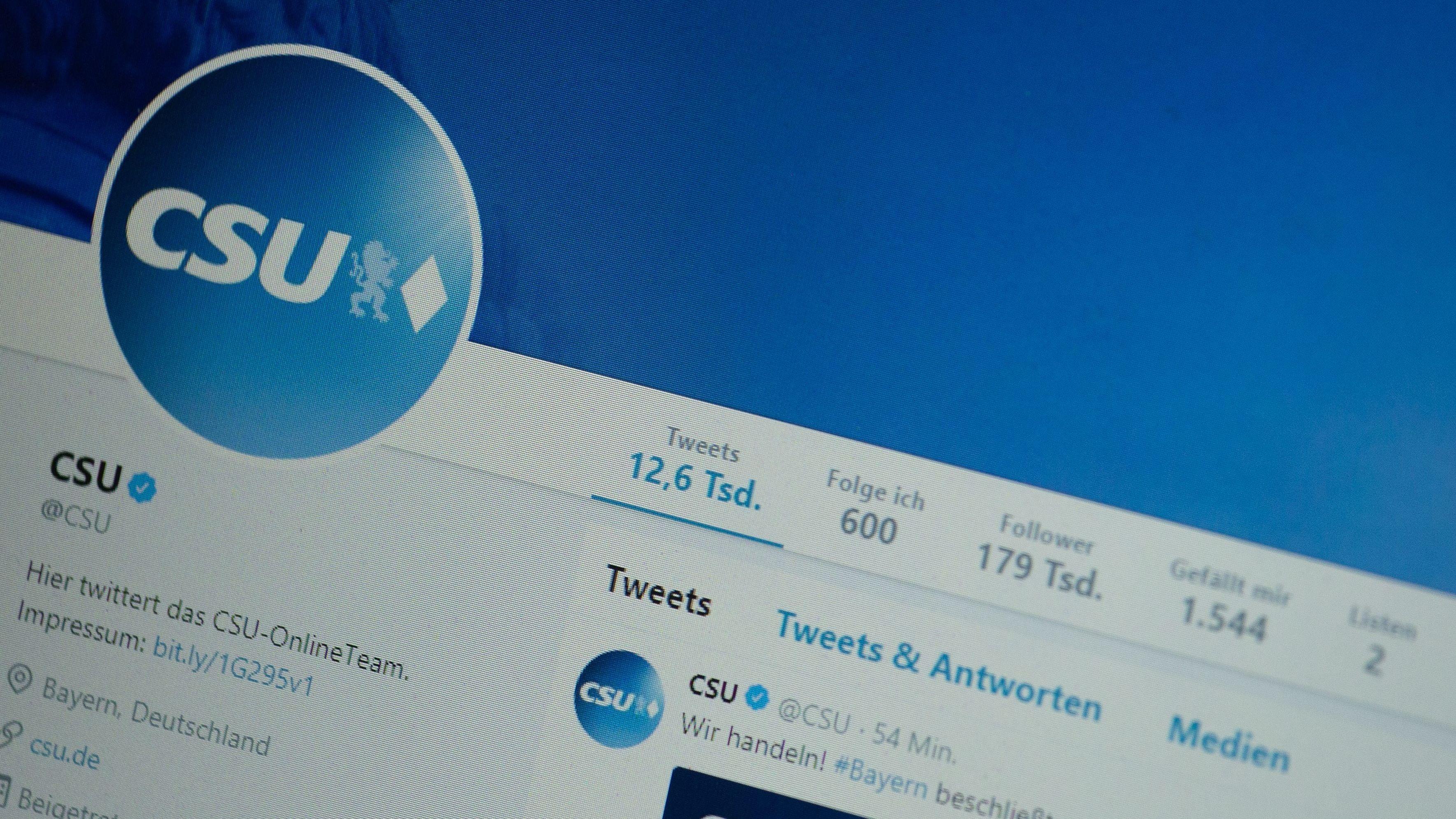 Symbolbild: CSU Twitter Account