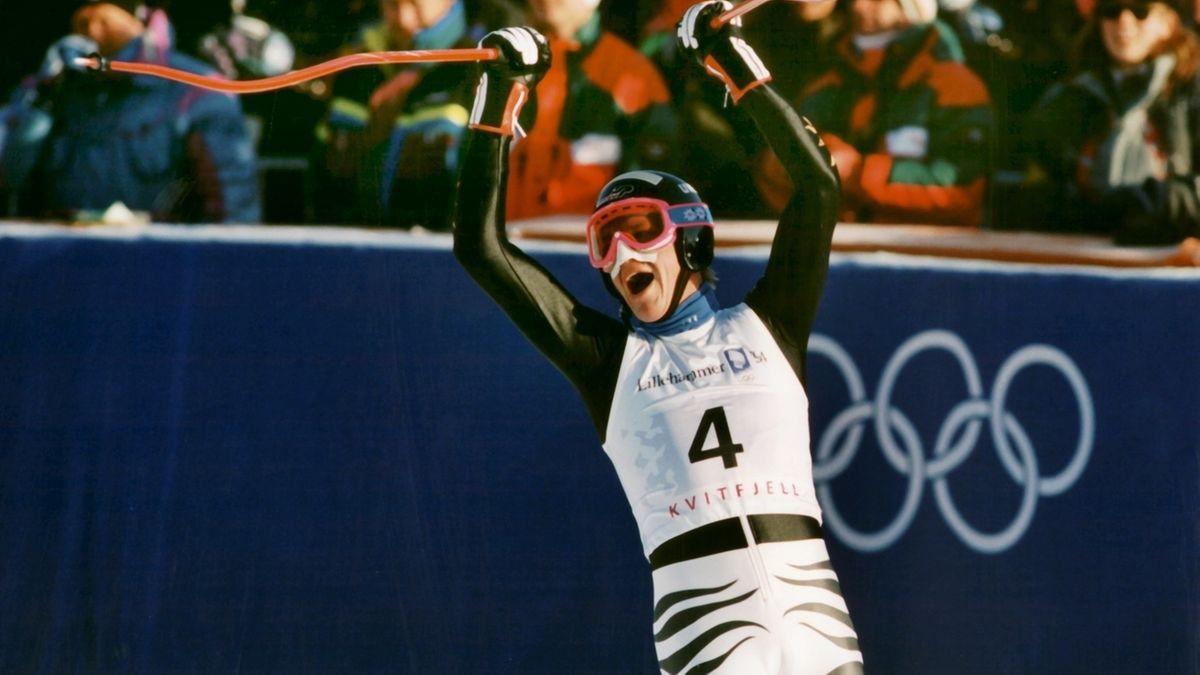 Markus Wasmeier jubelt über den Sieg