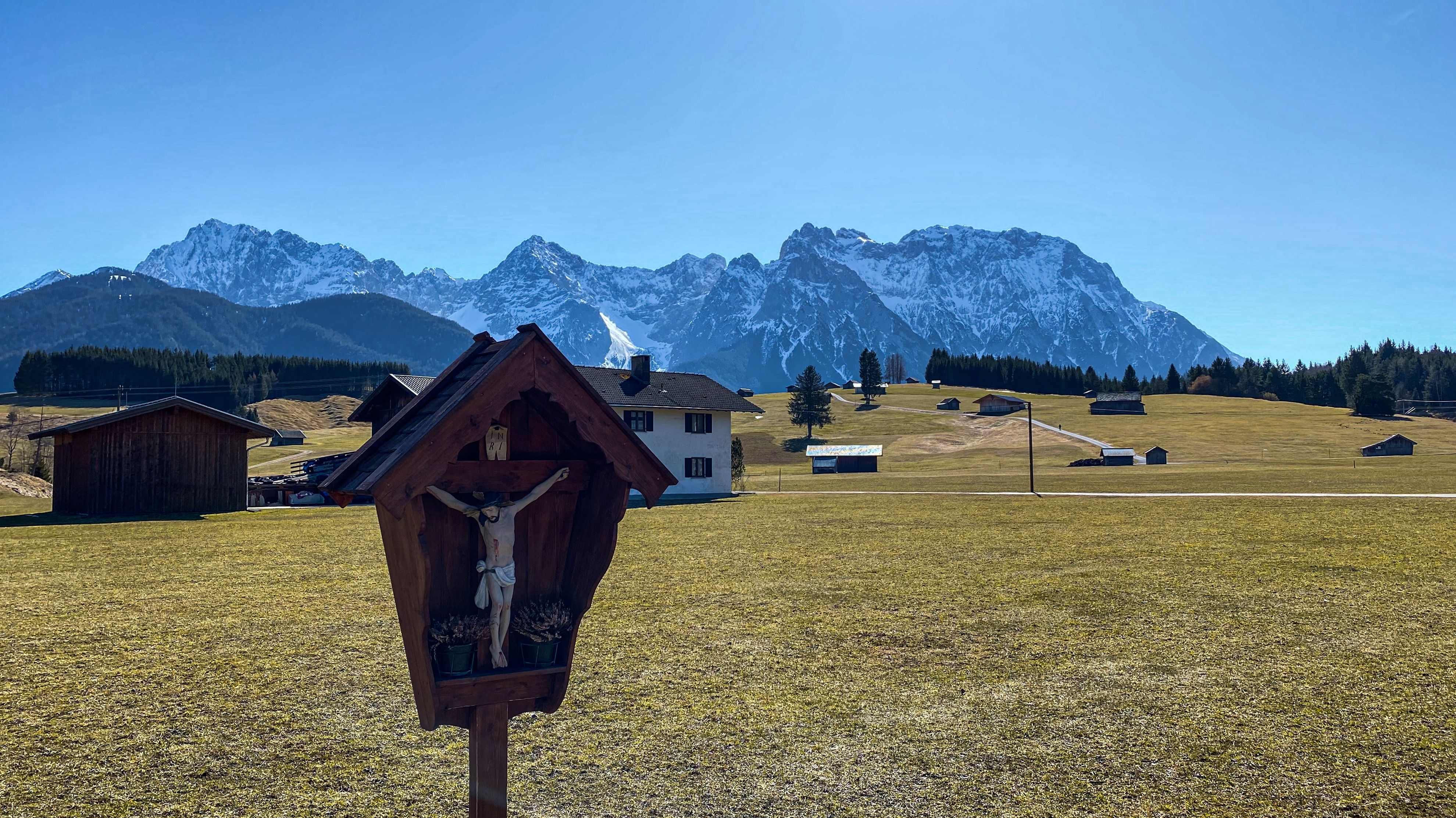 Landschaft bei Krün in Werdenfelser Land