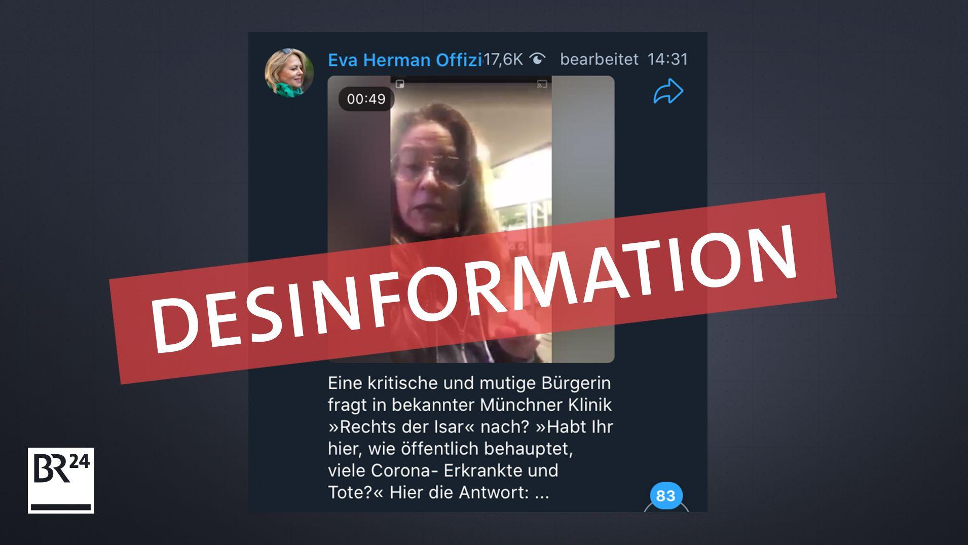 Klinikum Rechts der Isar widerspricht Fake-Video, das u.a. über Telegram Kanal der rechten Bloggerin Eva Herman geteilt wird
