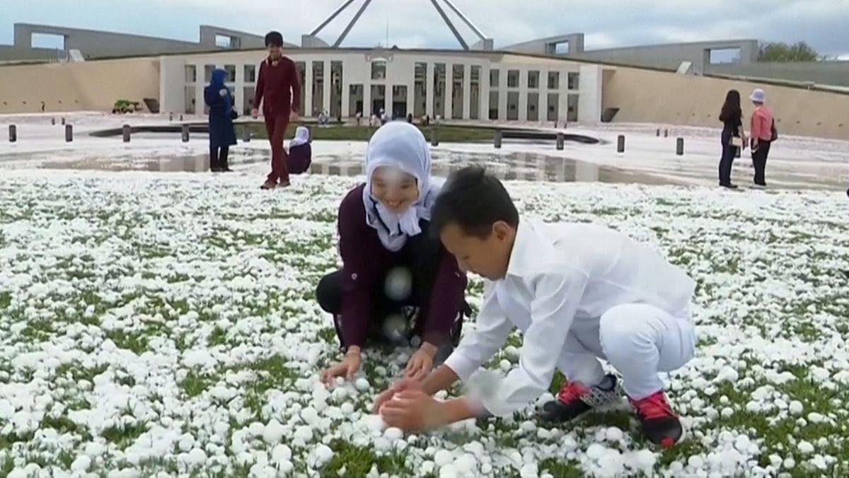 Hagelsturm trifft Canberra