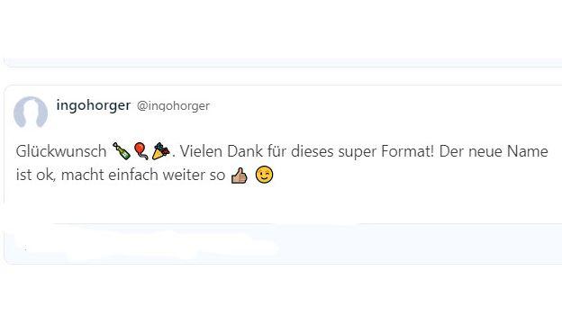 Ingo Horger findet BR24 super. Danke dafür!