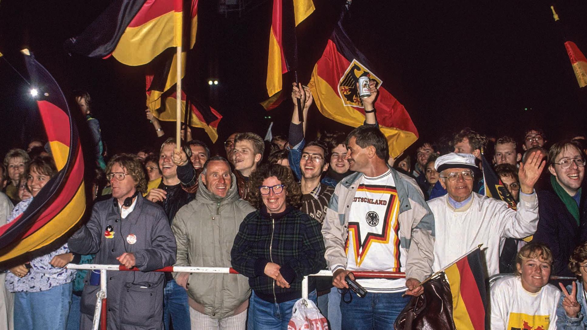 Deutschland im Wiedervereinigungsfieber