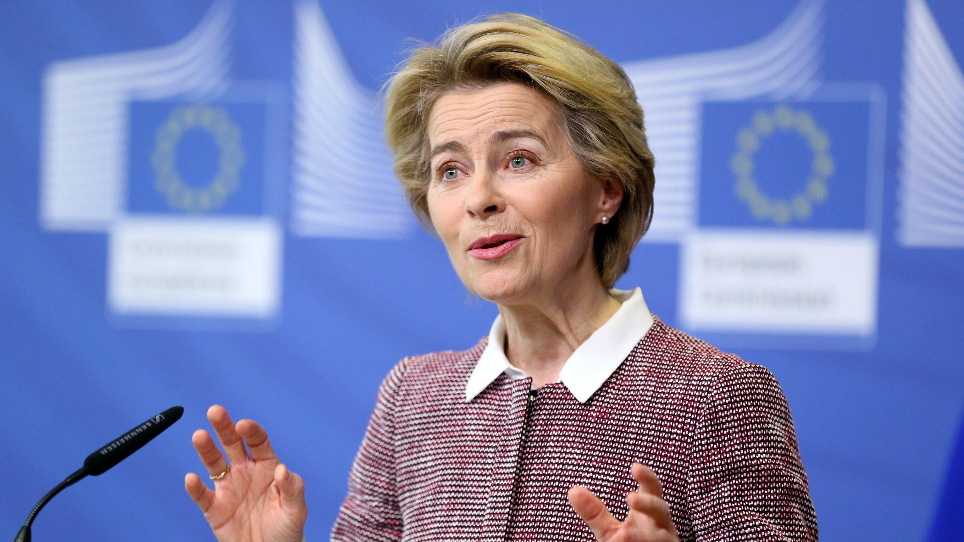 Die Präsidentin der Europäischen Kommission Ursula von der Leyen
