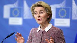 Die Präsidentin der Europäischen Kommission Ursula von der Leyen   Bild:Picture Alliance