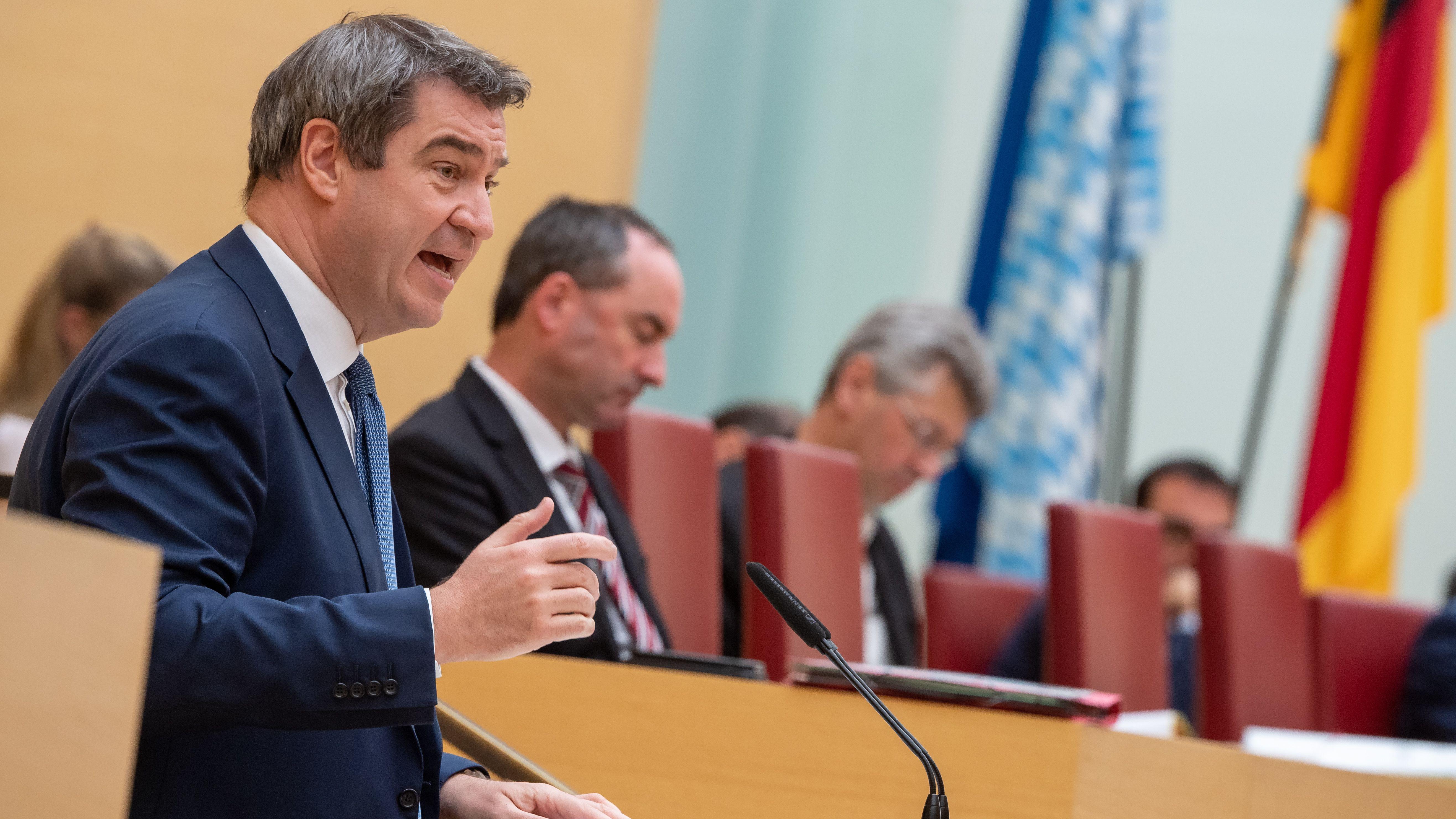 Ministerpräsident Söder im Landtag