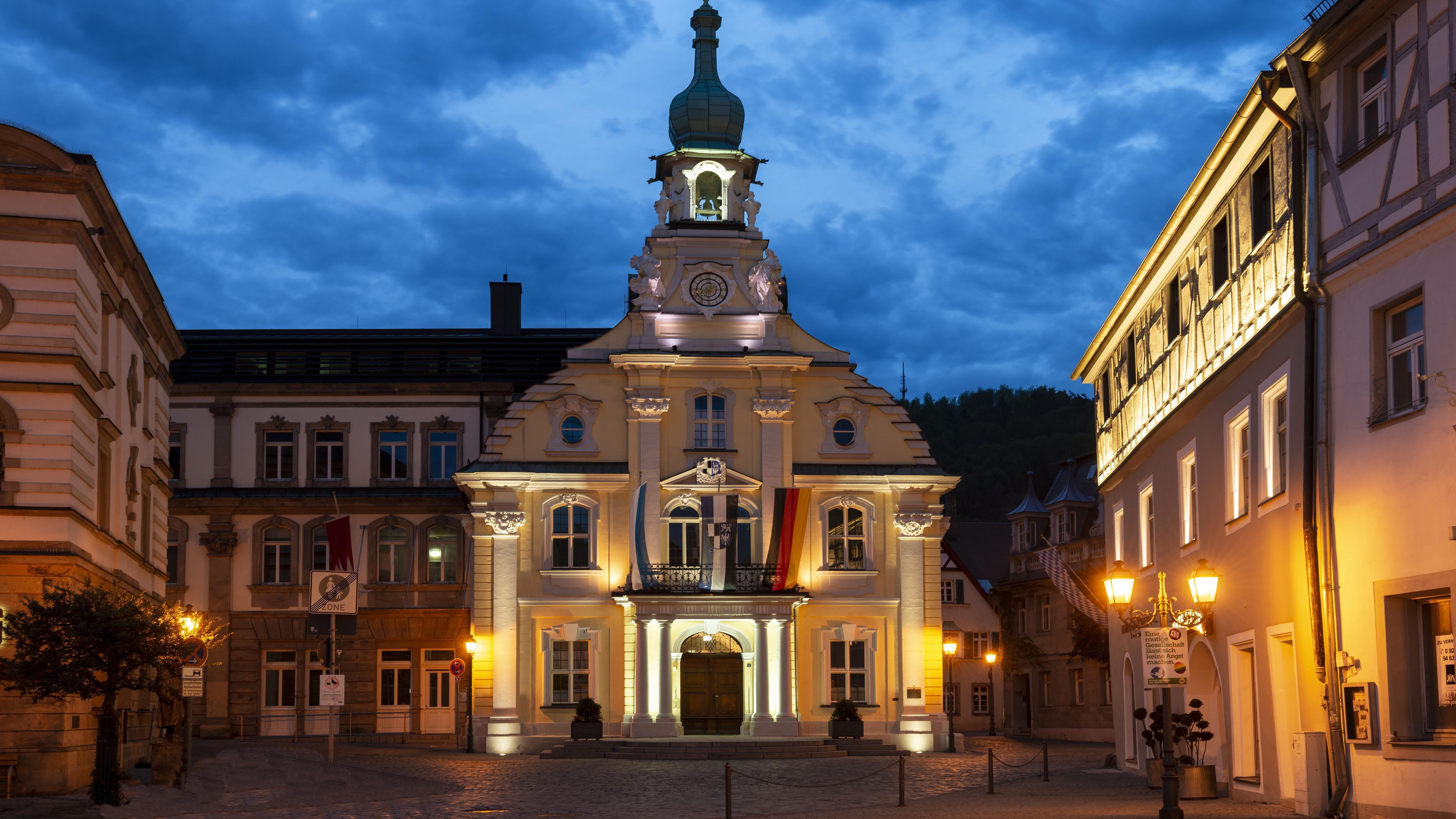 Das Rathaus in Kulmbach.