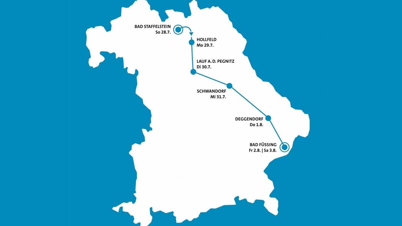 Route der Radltour 2019