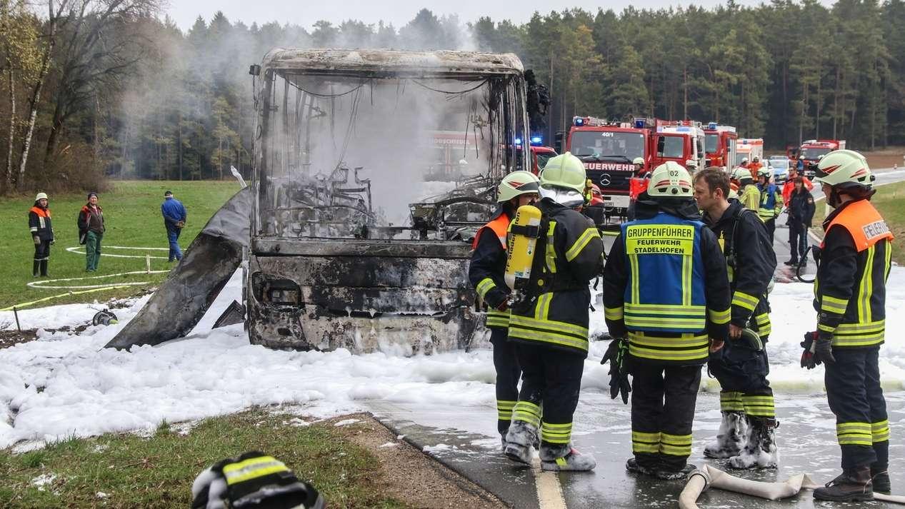 Busbrand bei Kasendorf