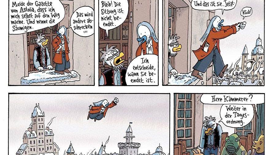 """Ein Ausschnitt aus dem Comic """"Ralph Azham""""."""