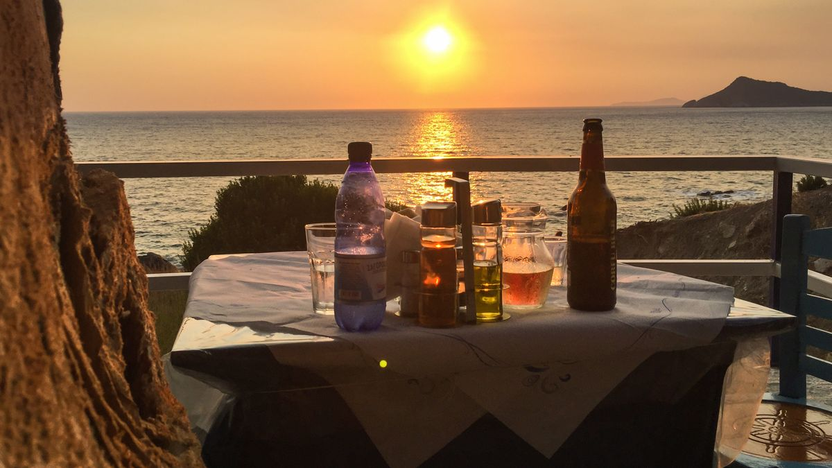 Griechisches Strandlokal
