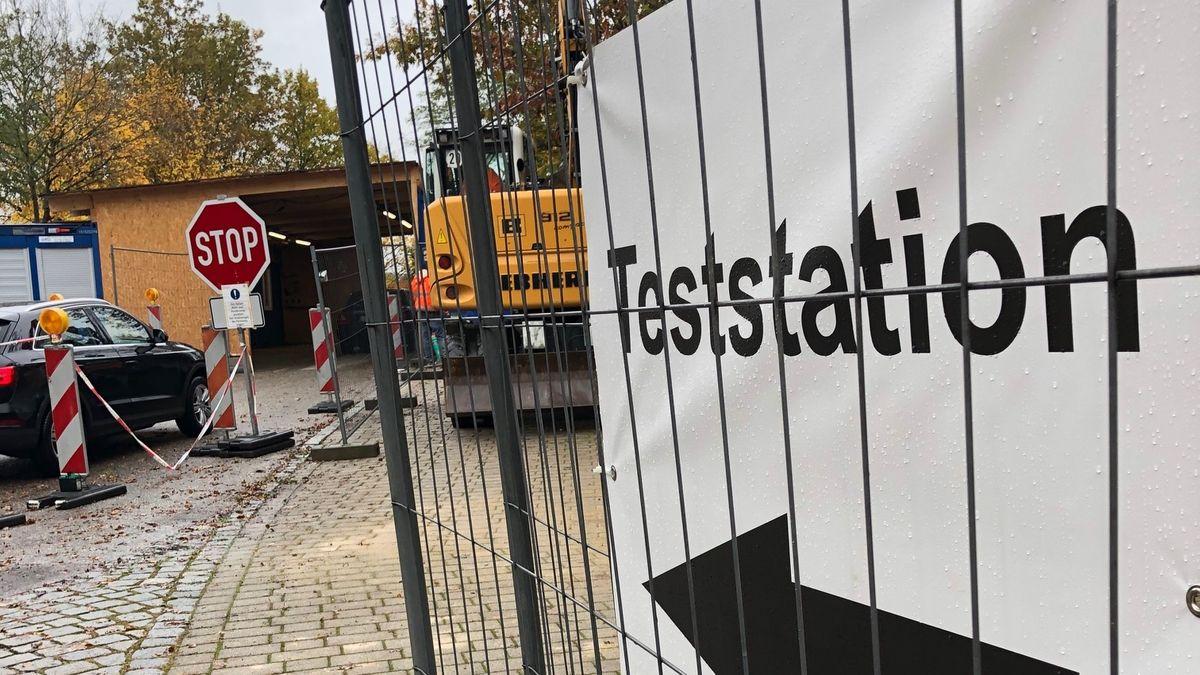 Die Teststation in Pfarrkirchen