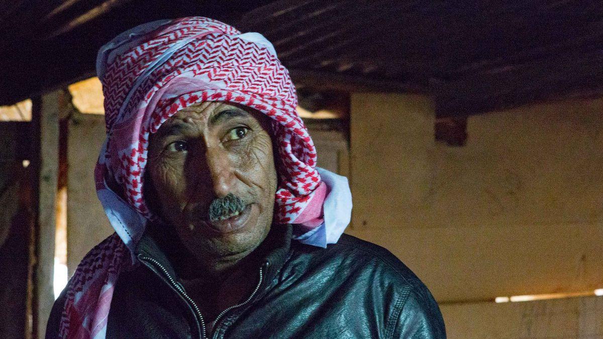 Eid Abu Khamis, Sprecher des Dorfes Khan al Achmar