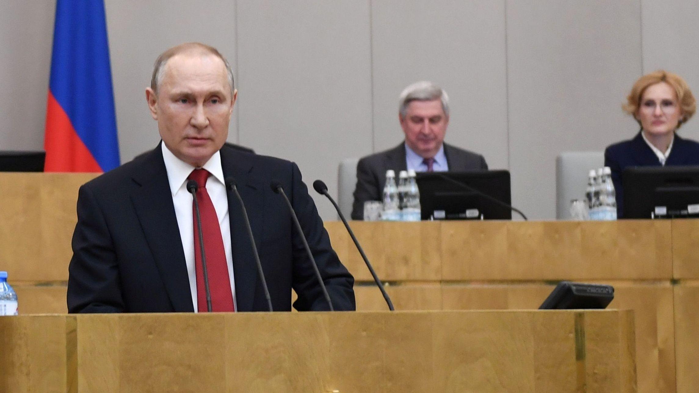 Wladimir Putin in der Duma