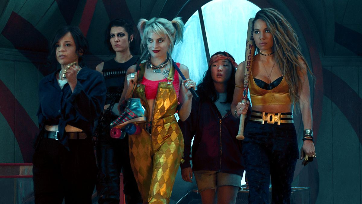 "Die ""Birds of Prey"" mit Anführerin Harley Quinn (Margot Robbi, 3. v. l.) in ""Birds of Prey: The Emancipation of Harley Quinn"""