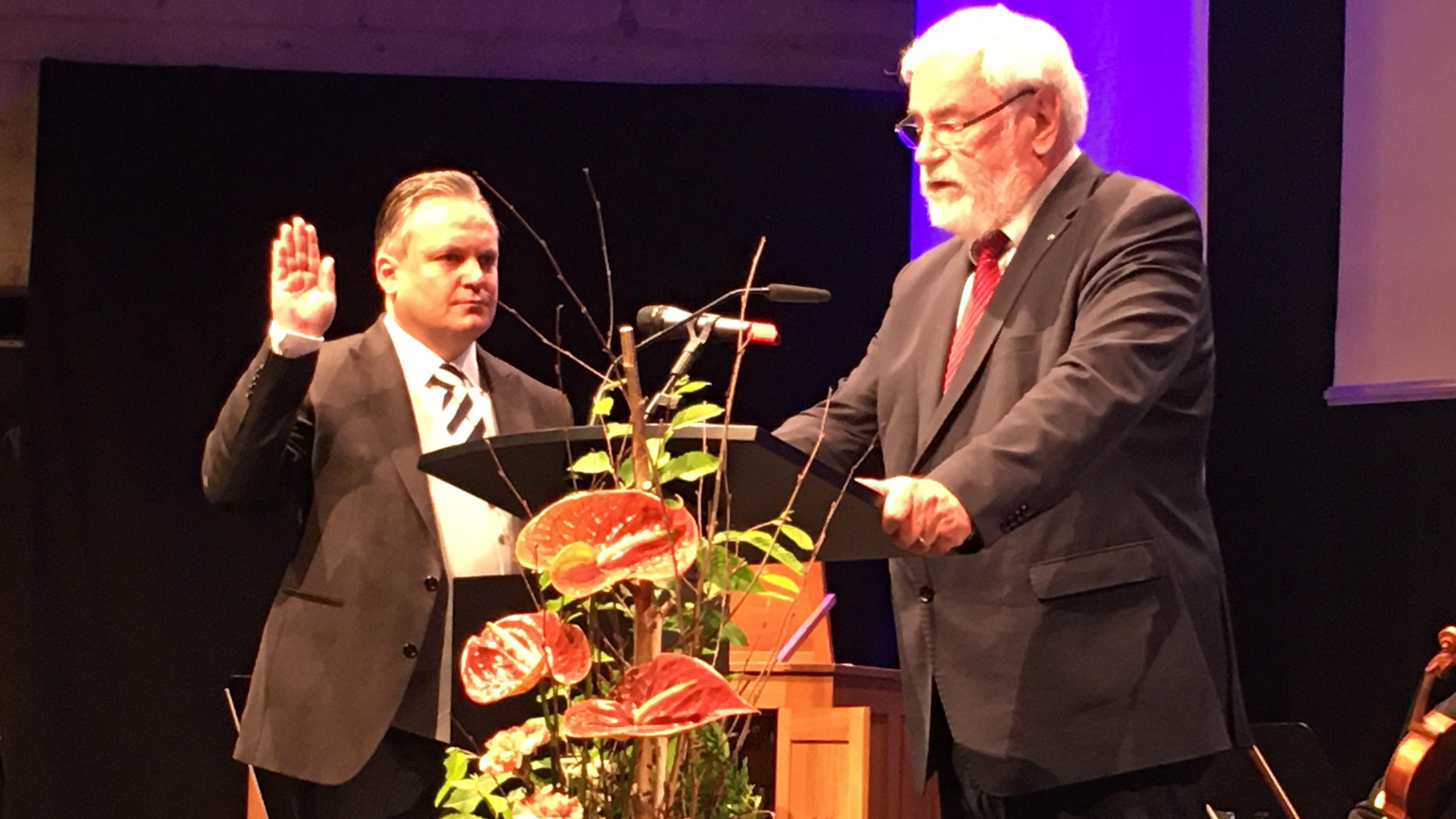 Vereidigung von Oberbürgermeister Christian Scharpf.