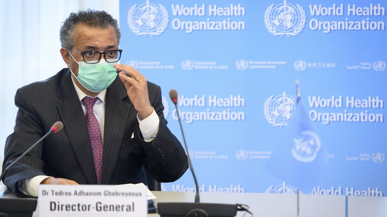 WHO-Direktor Tedros Adhanom Ghebreyesus. | Bild:picture alliance/KEYSTONE | LAURENT GILLIERON