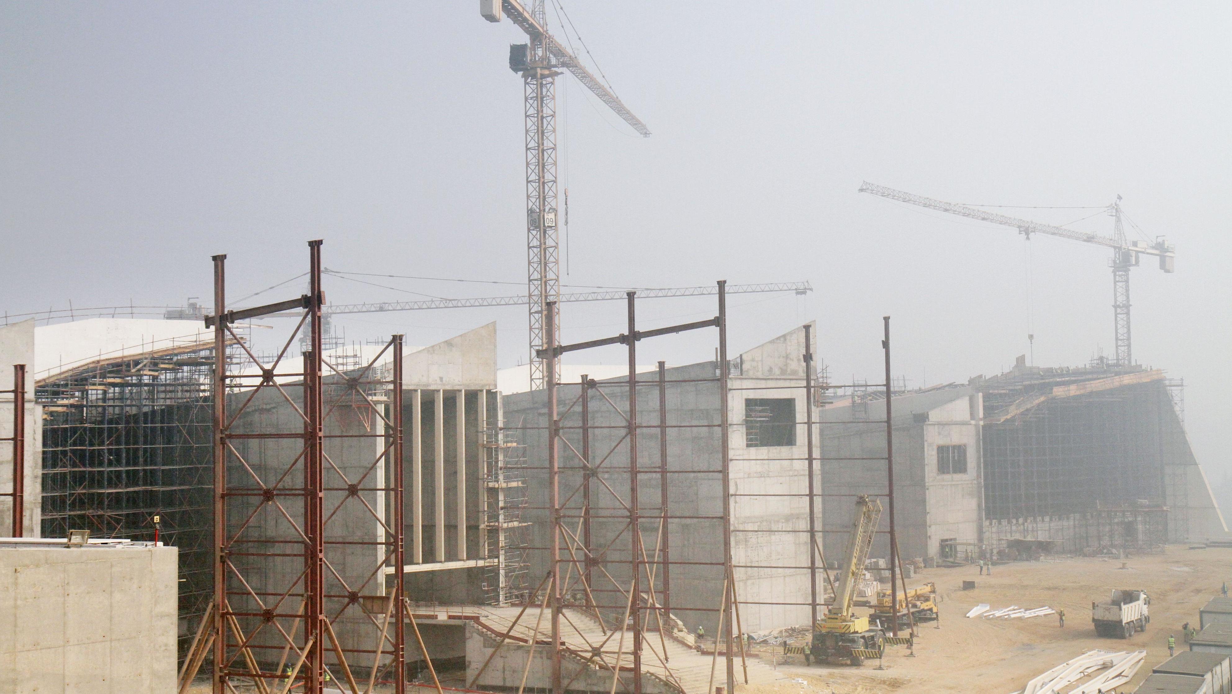 Under construction: Das Grand Egyptian Museum im Oktober 2016