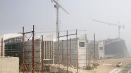 Under construction: Das Grand Egyptian Museum im Oktober 2016 | Bild:picture alliance/Kyodo