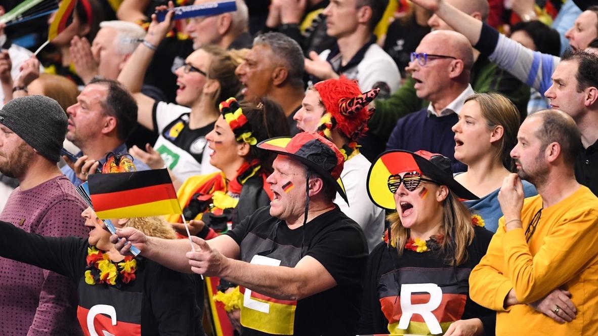 Handball-WM: Fans in der Halle