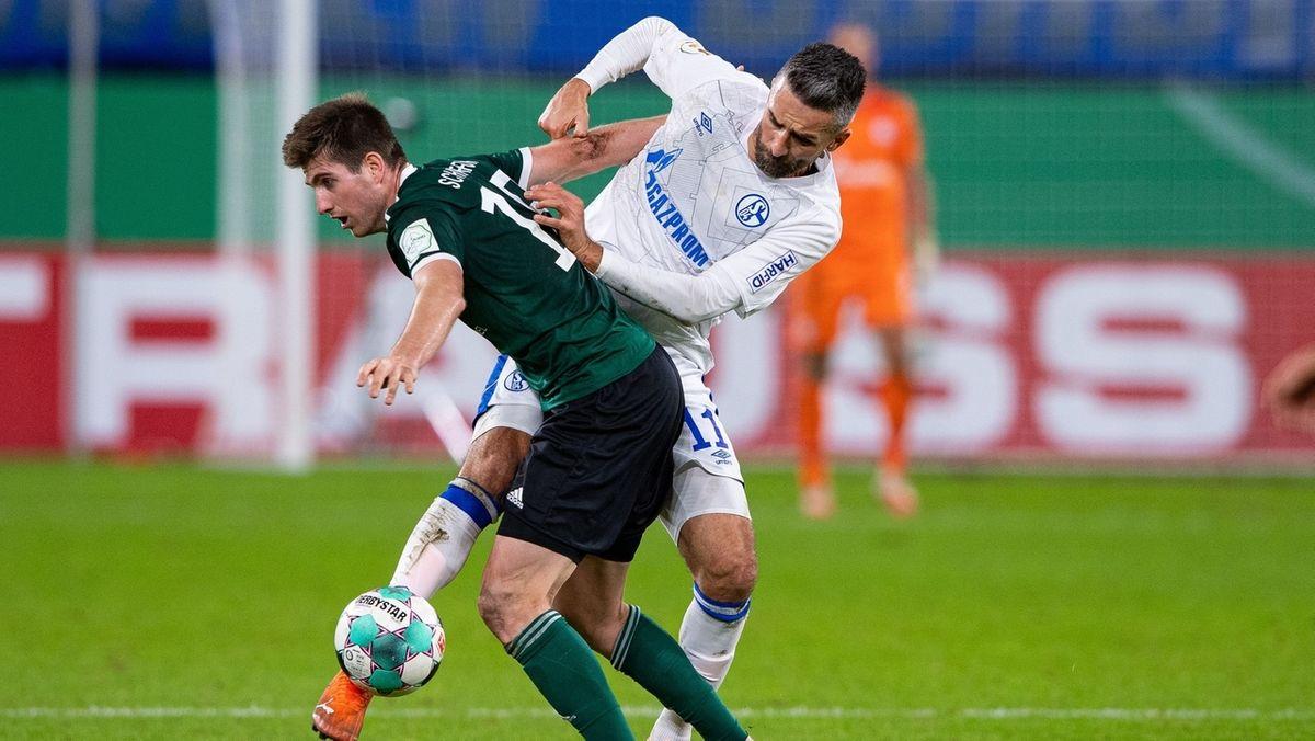 Spielszene aus der Partie Schweinfurt gegen Schalke