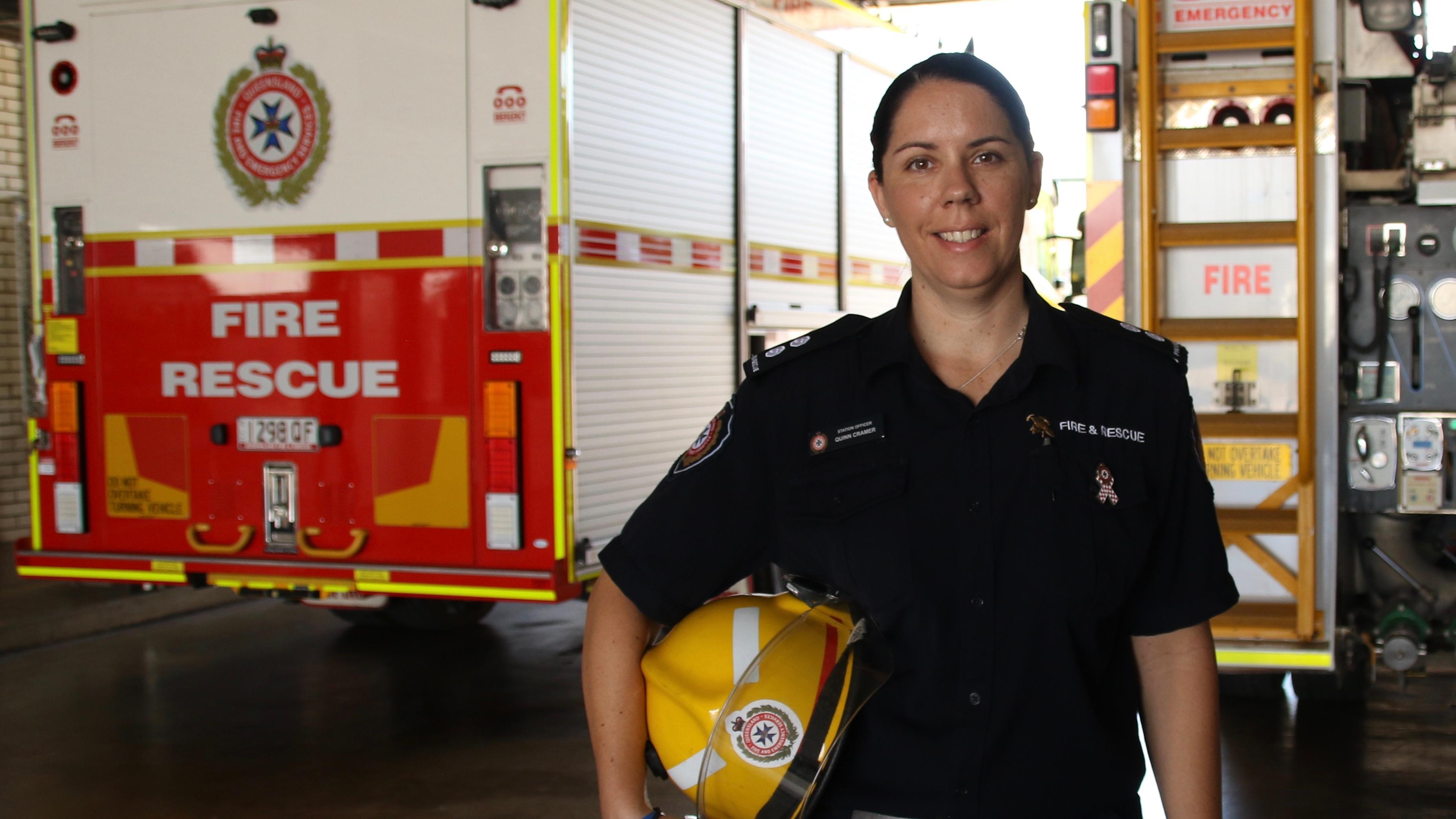 Die australische Feuerwehrfrau Quinn Cramer