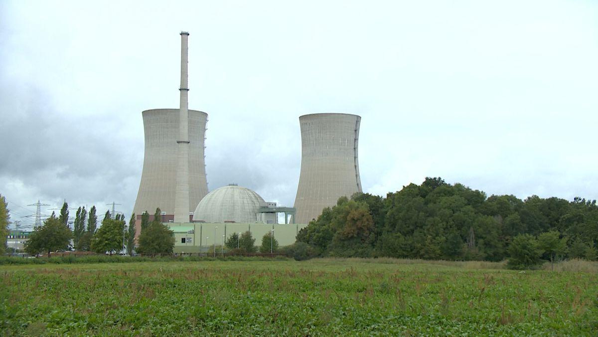 Das ehemalige Kernkraftwerk Grafenrheinfeld im Landkreis Schweinfurt