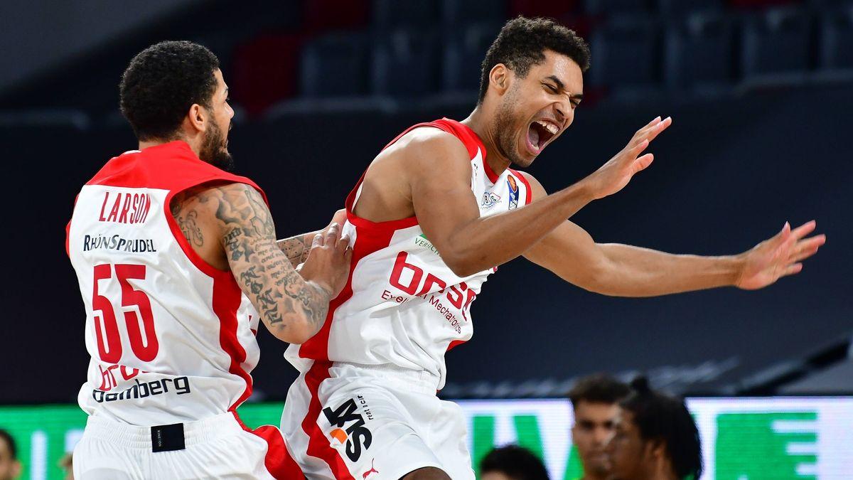 Jubel bei den Bamberger Basketballern