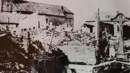 Foto nach der Bombennacht von Röllbach | Bild:Gemeinde Röllbach