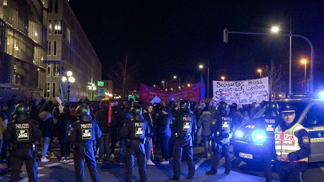 Demonstration gegen Abschiebung in Nürnberg