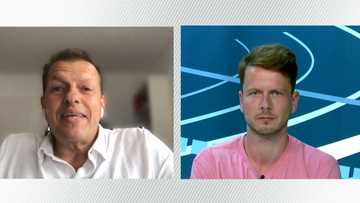 Die BR-Sportreporter Taufig Khalil (links) und Philipp Nagel