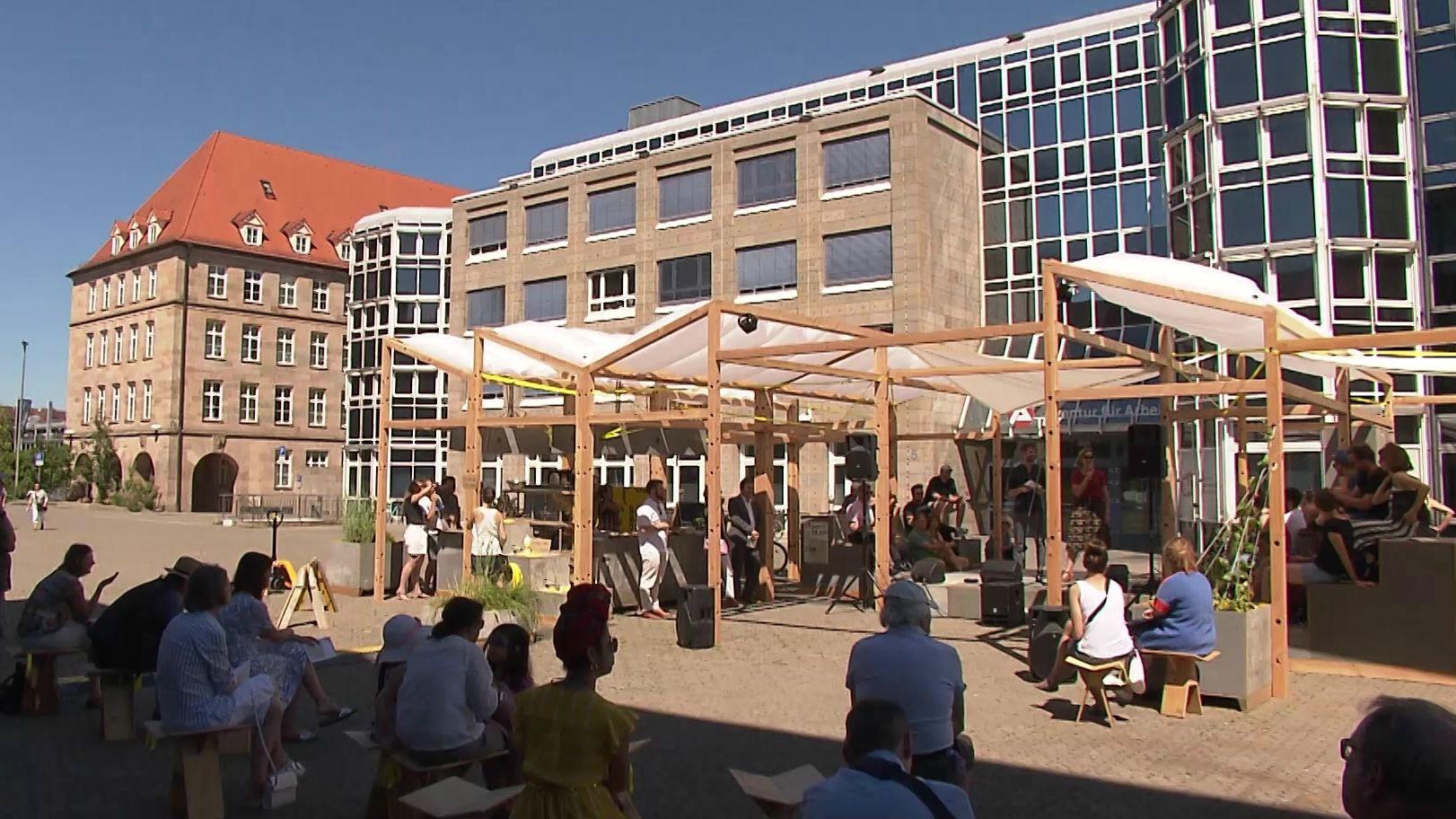 "Das ""Kulturhauptstädtla"" auf dem Nürnberger Richard-Wagner-Platz"